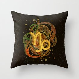 Capricorn Zodiac Sign Earth element Throw Pillow