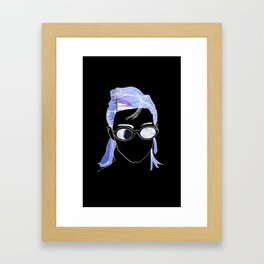 Generic Cool Girl Framed Art Print