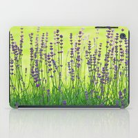 lavender iPad Cases featuring Lavender by Tanja Riedel