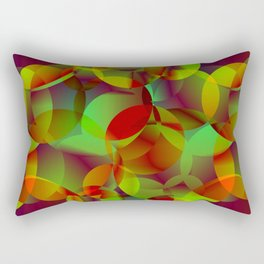 Vector abstract seamless background from space yellow and green bright circles and bubbles for fabri Rectangular Pillow