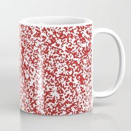 Tiny Spots - White and Firebrick Red Coffee Mug