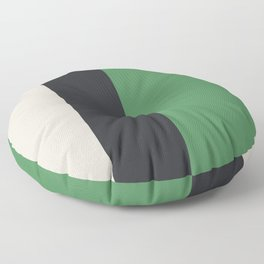 Modern Minimal Colorblock Meadow, Black and Natural Floor Pillow