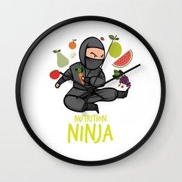 Nutrition Ninja Healthy Vegetarian Vegetables Gift Wall Clock