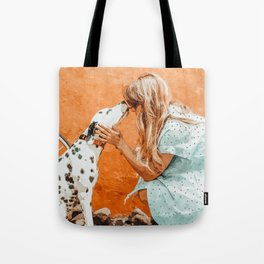 Pet Bound #pets #animals #animalslover #painting Tote Bag