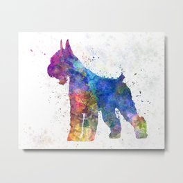 Giant Schnauzer 01in watercolor Metal Print