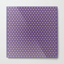 Geometric Shape 4 (Gold Stars and Purple Sky ) Metal Print