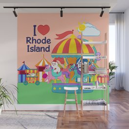 Ernest and Coraline | I love Rhode Island Wall Mural