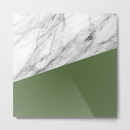Marble and Kale Color Metal Print
