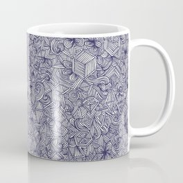 Held Together - a pattern of navy blue doodles Coffee Mug