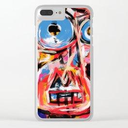 Art brut outsider underground graffiti portrait Clear iPhone Case