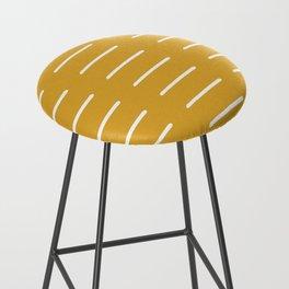 organic / yellow Bar Stool