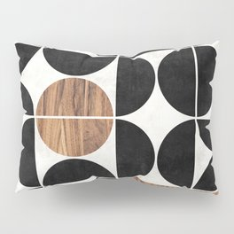 Mid-Century Modern Pattern No.1 - Concrete and Wood Pillow Sham