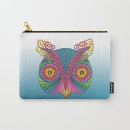 Owl Head with Peace Signs Carry-All Pouch