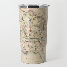Disturnell's Map of the United States (1850) Travel Mug