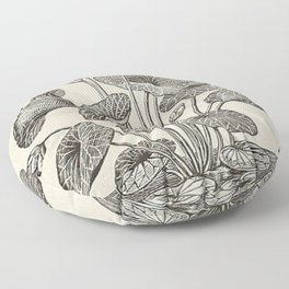 Water Lillies Floor Pillow