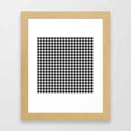 Gingham Black and White Pattern Framed Art Print