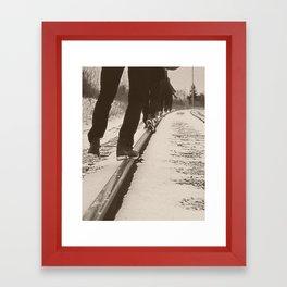 Tip Toe Track Framed Art Print