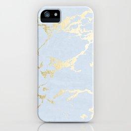 Kintsugi Ceramic Gold on Sky Blue iPhone Case
