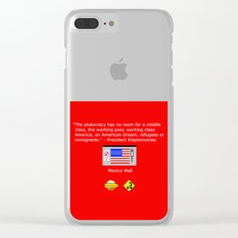 The Plutocracy in America Clear iPhone Case