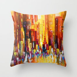 Sunny Los Angeles Throw Pillow