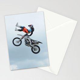 Motocross Shaolin Stunt Jump Stationery Cards