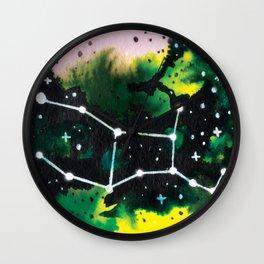Virgo Constellation Watercolor Wall Clock