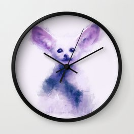 fennec foxy Wall Clock