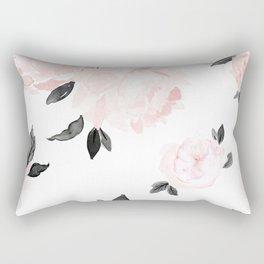 Vintage Blush Floral - BW Rectangular Pillow