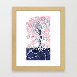 Skeleton Tree Framed Art Print