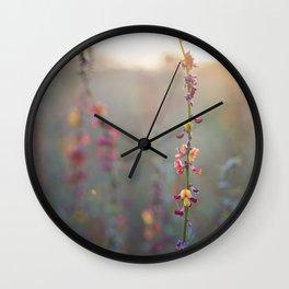 Wildflowers at Sunse Wall Clock