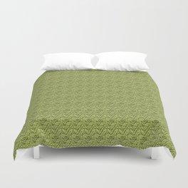 Green Zig-Zag Knit Duvet Cover