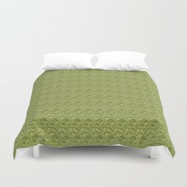 Green Zig-Zag Knit Duvet Cover
