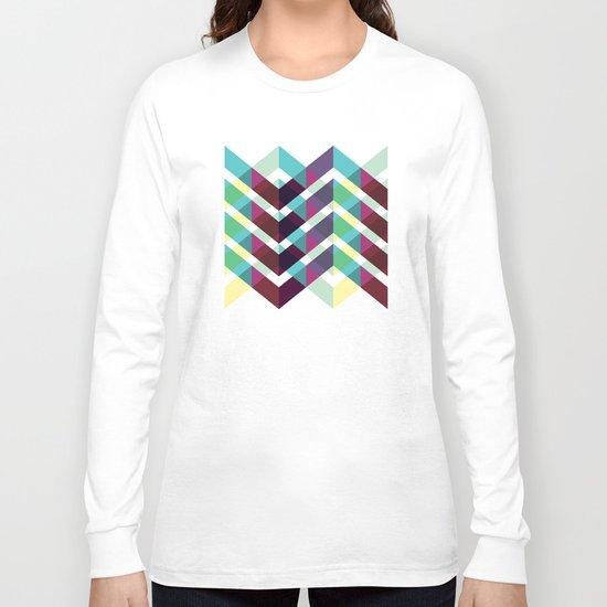 Zig Zag Pattern Long Sleeve T-shirt