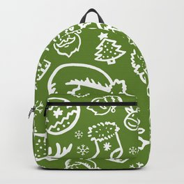 XMAS Green Pattern / Part Two Backpack