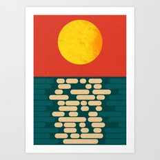 Sun Over The Sea - Afternoon Art Print
