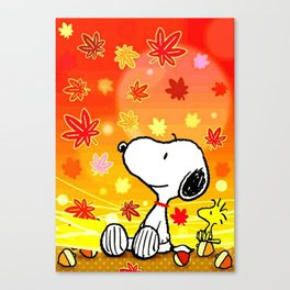 Snoopy saw the sunset Canvas Print
