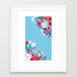 Sea floral iPhone print Framed Art Print
