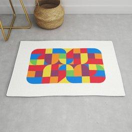 geometric bauhaus dance Rug