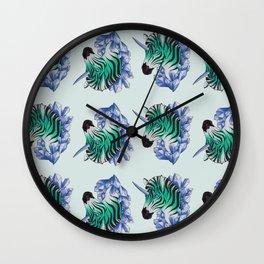 Aqua Zebracorn Wall Clock