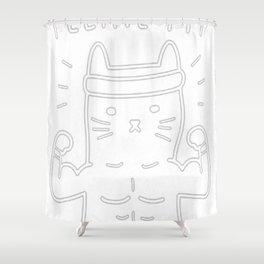 FELINE FIT Shower Curtain