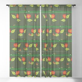 Plants and flowers Sheer Curtain