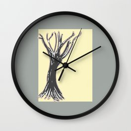 unblinking tree Wall Clock