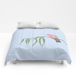 Pink and Grey Galah Comforters