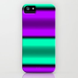 Purple & Mint Horizontal Stripes iPhone Case