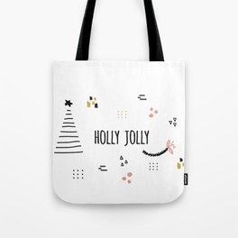 Minimal Holiday Designs :: Holly Jolly Tote Bag