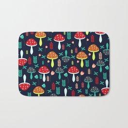 Multicolored mushrooms Bath Mat