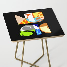 Music Typography Side Table