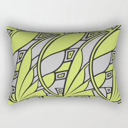 Modern art nouveau tessellations green gray Rectangular Pillow