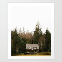 cabin Art Prints featuring Cabin  by Taylor Mccutchan