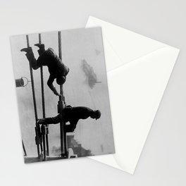 Brooklyn Bridge Painters Vintage Photograph (1915) Stationery Cards